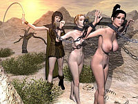 ancient women 3d slaves