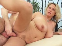 Fat mature hoochie gets a hard fucking from behind