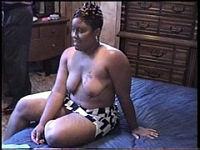 Fat black mommy lets her boyfriend taste her slit