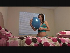Balloon playing with a sexy slut in bed