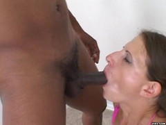 Sexy bitch clenches horny guy's shit hole