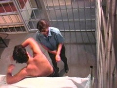 Horny lady cop fucks with an inmate
