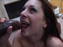 Lily white girl pounded by dark meat
