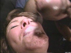 Sexy bitches saliva lubricates huge cock