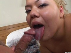 Chubby blonde enjoys fondling juicy wet cunt