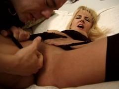 Horny couple demonstrates hard fucking