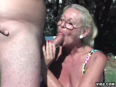 Shameless whore granny always ready to bare her wrinkled skin