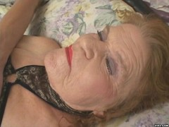 Horny granny sucks fresh meat