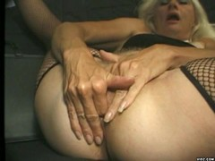 Horny bitch loves sucking two hard cocks