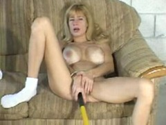 White. blonde whore in pussy sounding