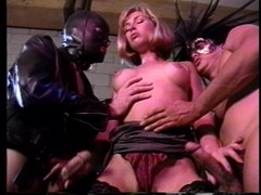 BDSM plus DP with a cute Sunset Thomas