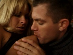 Mature blonde loves younger guys