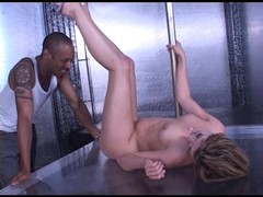 White slut seduces Black cock