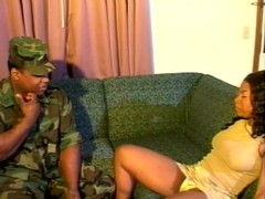 Black bear in uniform studs pussy