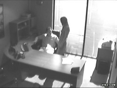 Boss fucks secretary under video surveillance