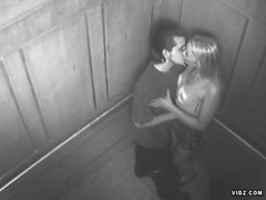 Couple caught having sex inside the elevator