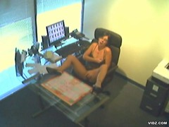 Secretary caught masturbating during office hours