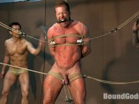 Derek Pain gets tied up and beaten at the Steamworks Chicago