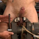 BDSM gay tortures: male nipples torment, cock, balls and urethra tortures