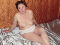 granny Joana in white panties