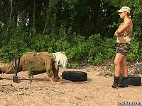 lesbian army training