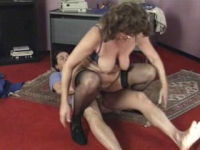 sex with granma in stockings