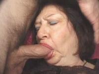 granny sucks hard cock