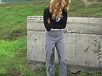 grey pissed pants