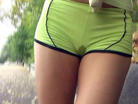 pee-drenched shorts
