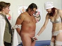 Bizarre medical femdom tests
