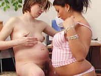 hot preggos having some toy lesbo fun