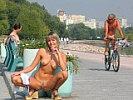 Naked on public