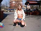 Nude pussy in public