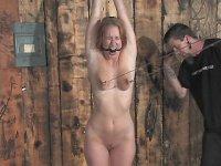 Ms. Van Warren is gagged and tied